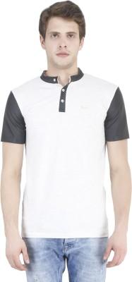 Tej Star Solid Men's Boat Neck Grey T-Shirt