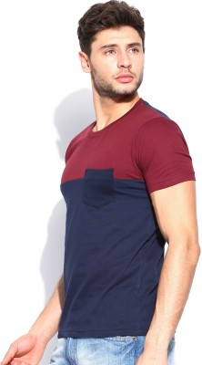 Roadster Solid Men's Round Neck Red T-Shirt