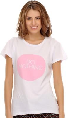 Clovia Graphic Print Women's Round Neck T-Shirt