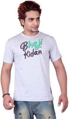 Punjabi Heritage Graphic Print Men,s Round Neck Grey T-Shirt