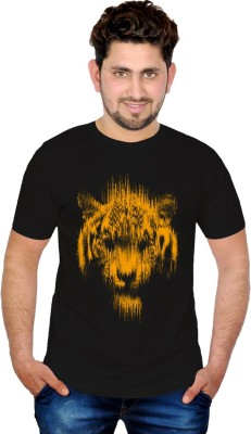 INKIT Graphic Print Men's Round Neck Black T-Shirt