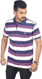 Woodside Solid Men's Polo Neck Pink T-Sh...