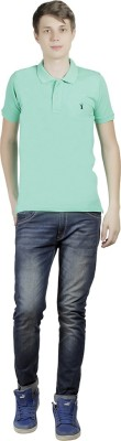 Clive Rogers Solid Men's Polo Light Green T-Shirt