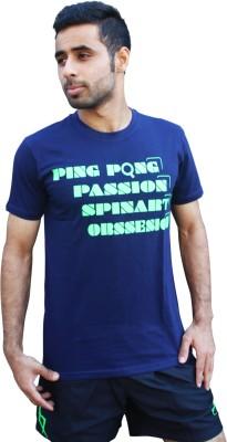 SPINART Printed Men,s, Women's Round Neck Dark Blue T-Shirt