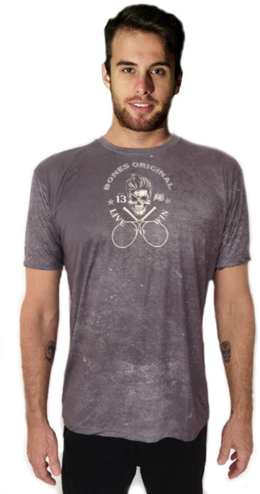 Bones Original Printed Men's Round Neck Grey T-Shirt