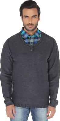 Jadeblue Solid Men's Round Neck Grey T-Shirt