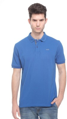OCTAVE Solid Men's Polo Blue T-Shirt