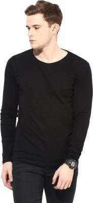 Benoit Solid Men's Round Neck Black T-Shirt