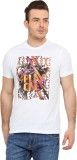 Tecza Printed Men's Round Neck White T-S...