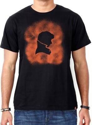 ComicSense Printed Men's Round Neck Black T-Shirt