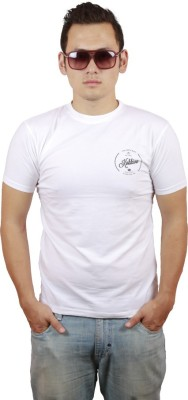 Kokkivo Clothing Solid Men's Round Neck White T-Shirt