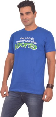 Sonic Tees Graphic Print Men's Round Neck Blue T-Shirt