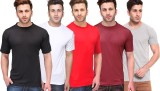 Tripr Solid Men's Round Neck Multicolor,...