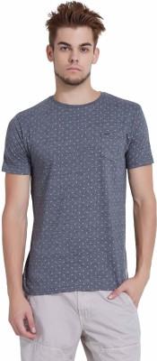 Breakbounce Printed Men's Round Neck Black T-Shirt