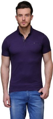 Buckland Solid Men's Polo Purple T-Shirt