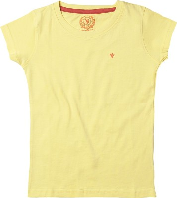 Superyoung Solid Girl's Round Neck T-Shirt