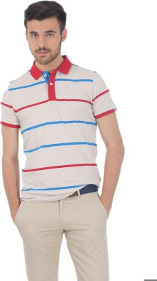 BASICS Striped Men's Polo Neck T-Shirt