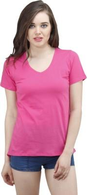 Osumfab Casual Short Sleeve Solid Women's Yellow Top