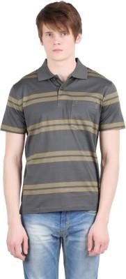 Moonwalker Striped Men's Polo Neck Multicolor T-Shirt
