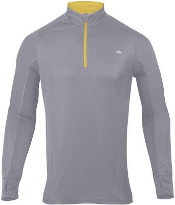Wildcraft Solid Men's Round Neck Grey T-Shirt