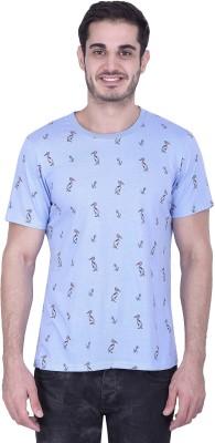 House of Fett Printed Men's Round Neck Multicolor T-Shirt
