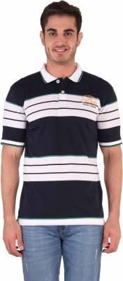 Kingswood Striped Men's Polo Blue T-Shirt