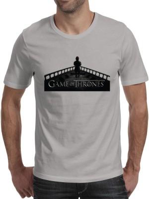 Fanideaz Printed Men's Round Neck Grey T-Shirt