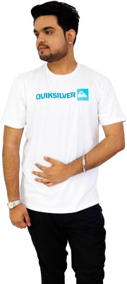 Parv Collections Solid Men's Round Neck White T-Shirt
