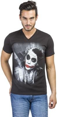 Dark Knight Printed Men's Round Neck Black T-Shirt