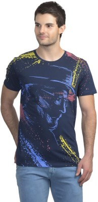 Doctor Who Printed Men's Round Neck Blue T-Shirt