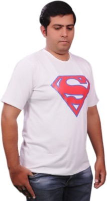 ADK Graphic Print Men's Round Neck White T-Shirt