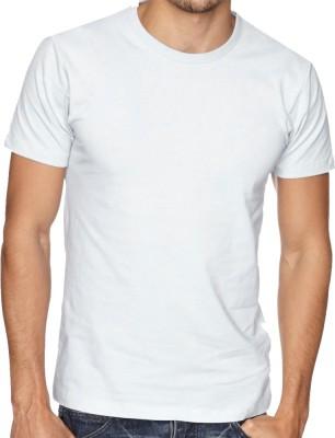 Cottolite Solid Men's Round Neck White T-Shirt