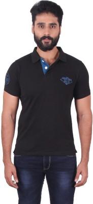 urbantouch Solid Men's Polo Neck Black T-Shirt