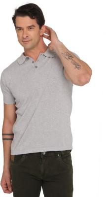 Donear NXG Solid Men's Polo Neck Grey T-Shirt