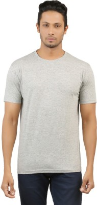 fashion4u Printed Men's Round Neck Grey T-Shirt