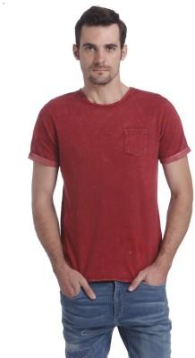 Jack & Jones Solid Men's Round Neck Red T-Shirt