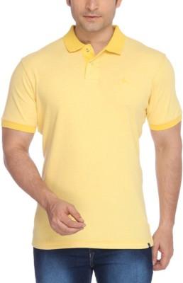 Parx Solid Men's Polo Neck Reversible Yellow T-Shirt