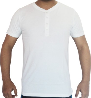 Flamingo Graphic Print Men's Round Neck White T-Shirt