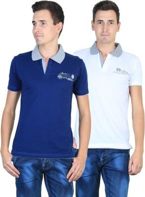 Duke Solid Men's Polo Neck T-Shirt