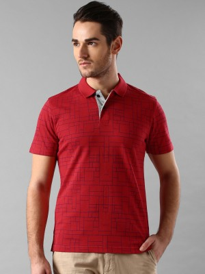 INVICTUS Printed Men's Polo Neck Red T-Shirt