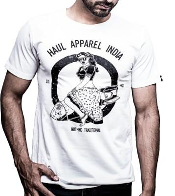 Haul Graphic Print Men,s, Women's Round Neck White T-Shirt