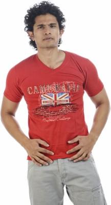 Shapers Printed Men's V-neck Red T-Shirt