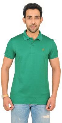 Fabnavitas Embroidered Men's Polo Neck Green T-Shirt
