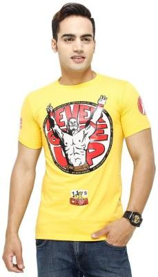 Trendmakerz Graphic Print Men's Round Neck Yellow T-Shirt