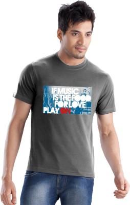 Force Go Wear Graphic Print Men's Round Neck Grey T-Shirt