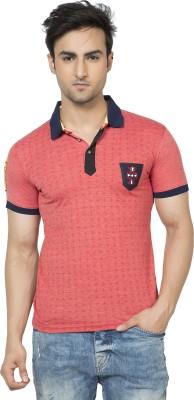 Purple Haze Floral Print Men's Polo Neck Multicolor T-Shirt