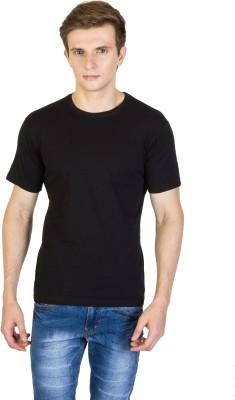 Rexler Solid Men's Round Neck Black T-Shirt