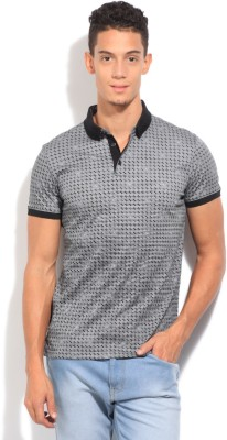 Arrow Newyork Printed Men's Polo Grey T-Shirt