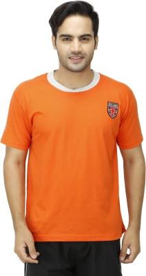 1OAK Solid Men's Round Neck Orange T-Shirt