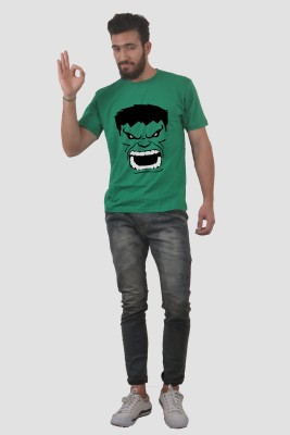 Abuse Printed Men's Round Neck Green T-Shirt